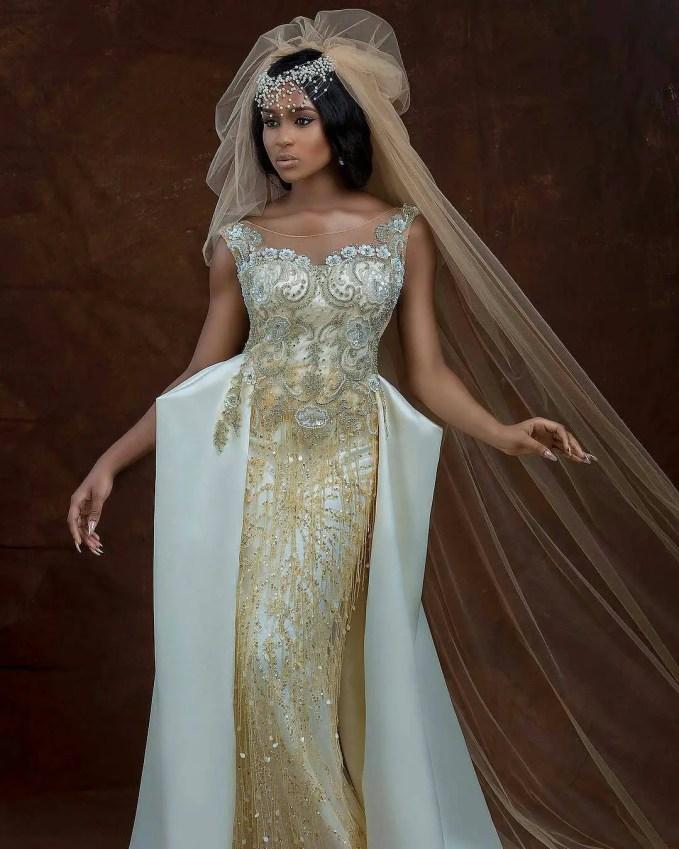 Brides Wey Sabi Better Wedding Reception Gowns