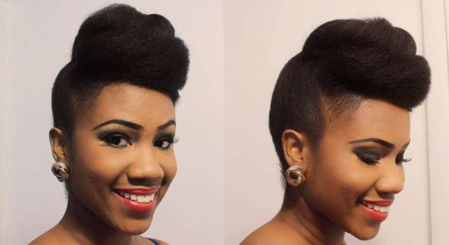 Twisted Pompadour Hairstyle For Classy Ladies