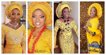 We Are In The Fashion faze Of Slaying Beautiful Yellow Aso Oke