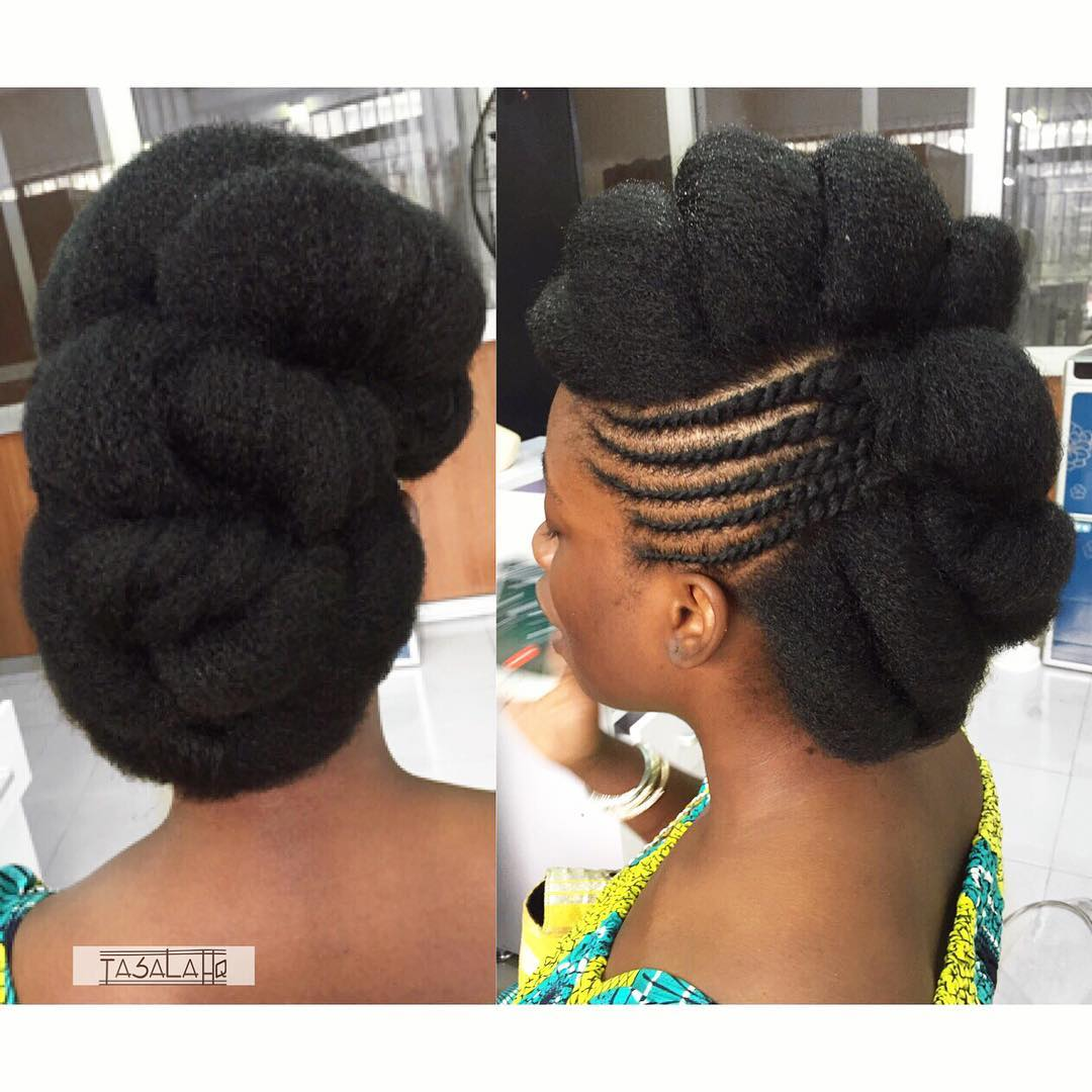 Mini Twists And Flat Twists On Short Natural Hair