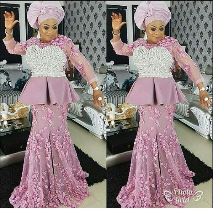 More Gorgeous Asoebi Styles From Banky W Wedding Pictures 2017 #BAAD2017