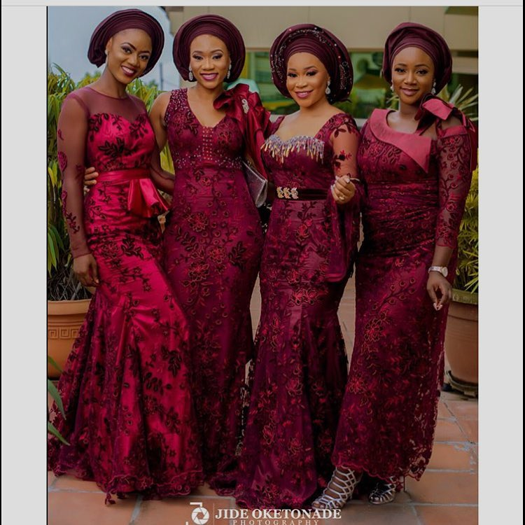 Bow Down To These Lace Asoebi Style Queens!