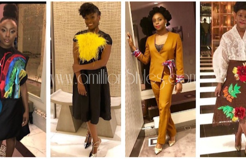 Ten Times Chimamanda Looked Stunning In Nigerian Designs