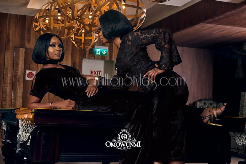 It's Blazing Hot As Osas Ighodaro Models For Omowunmi Akinnifesi's New Lookbook
