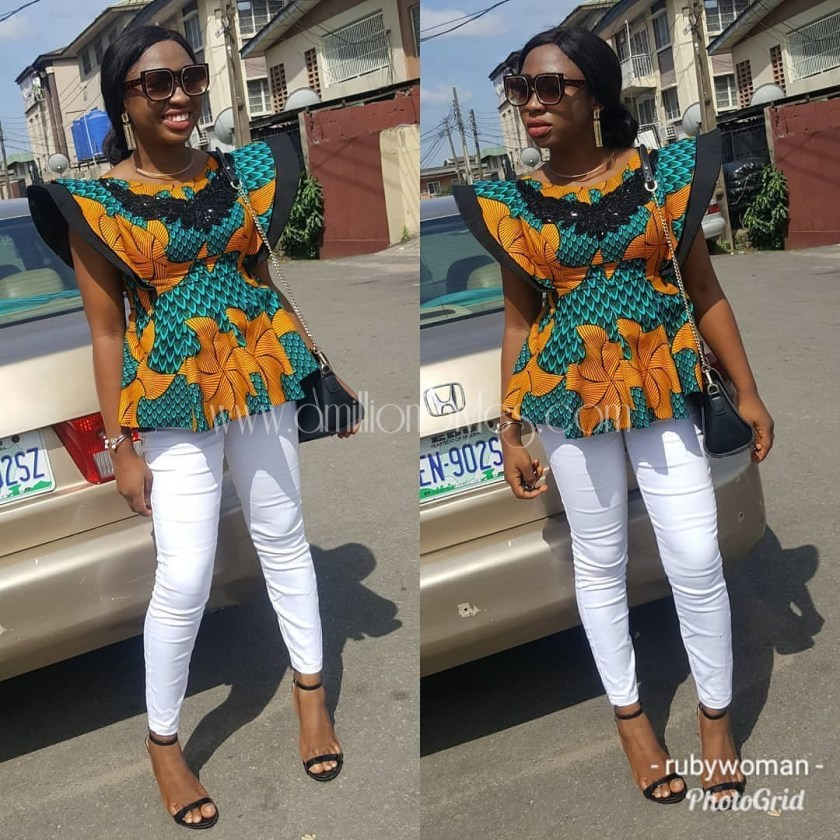 Show Your Boss Moves In Perfect Friday Casual Ankara Tops