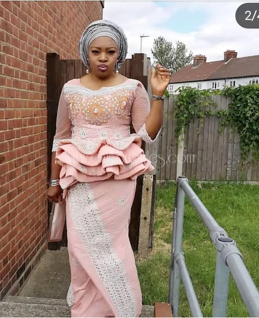 You Strut When Wearing The Loveliest Lace Asoebi Styles