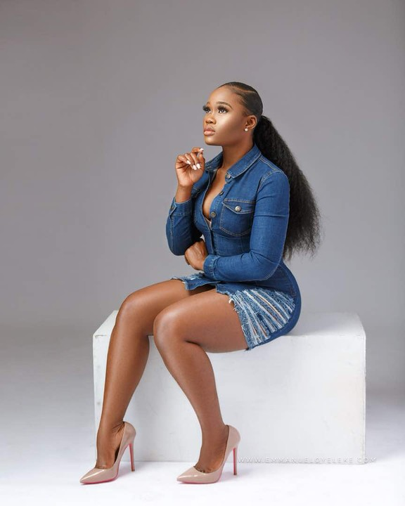 Bbnaija 2018 Housemate Cee-C Gives Us Stunning Denim Vibes In New Photos