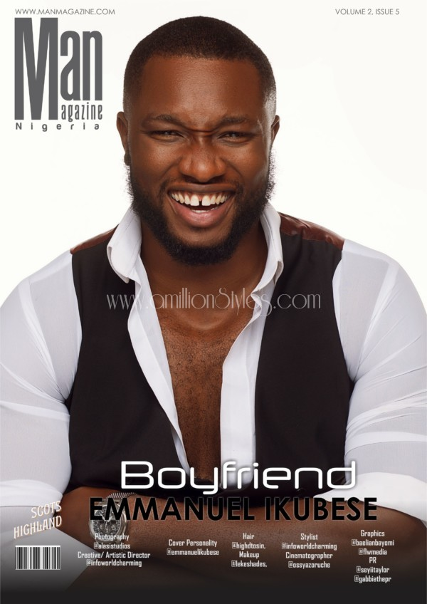 Ex Mr Nigeria Emmanuel Ikubese Covers Man Magazine's Latest Issue