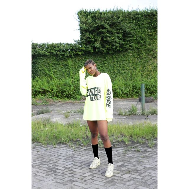 Alex Is Giving Us Weekend Outfit Inspiration In This Tiwa Savage Merch Tee