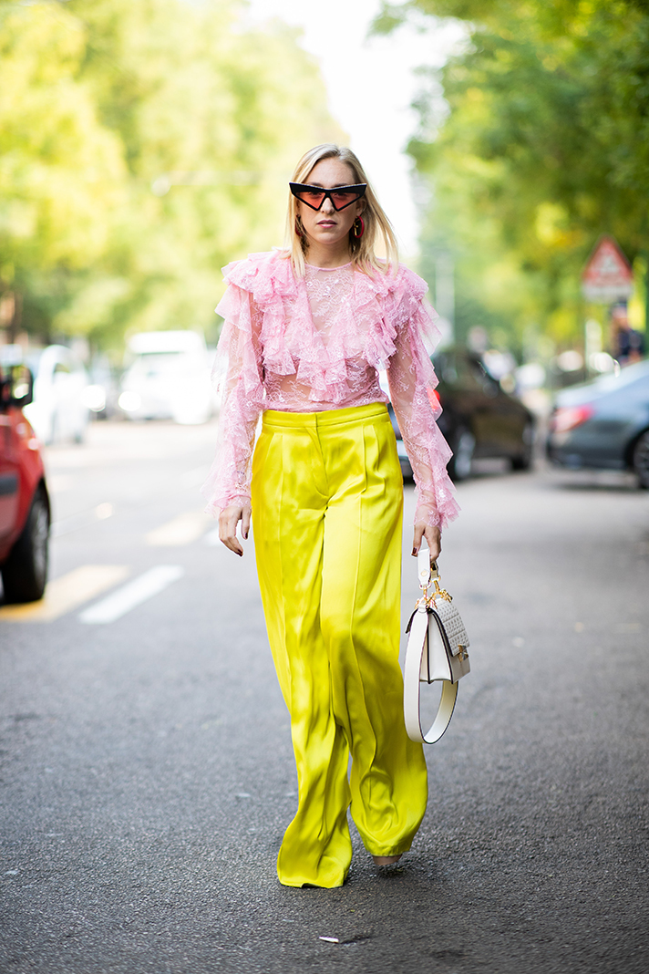 The Colorful Streetstyle Of Milan Fashion Week