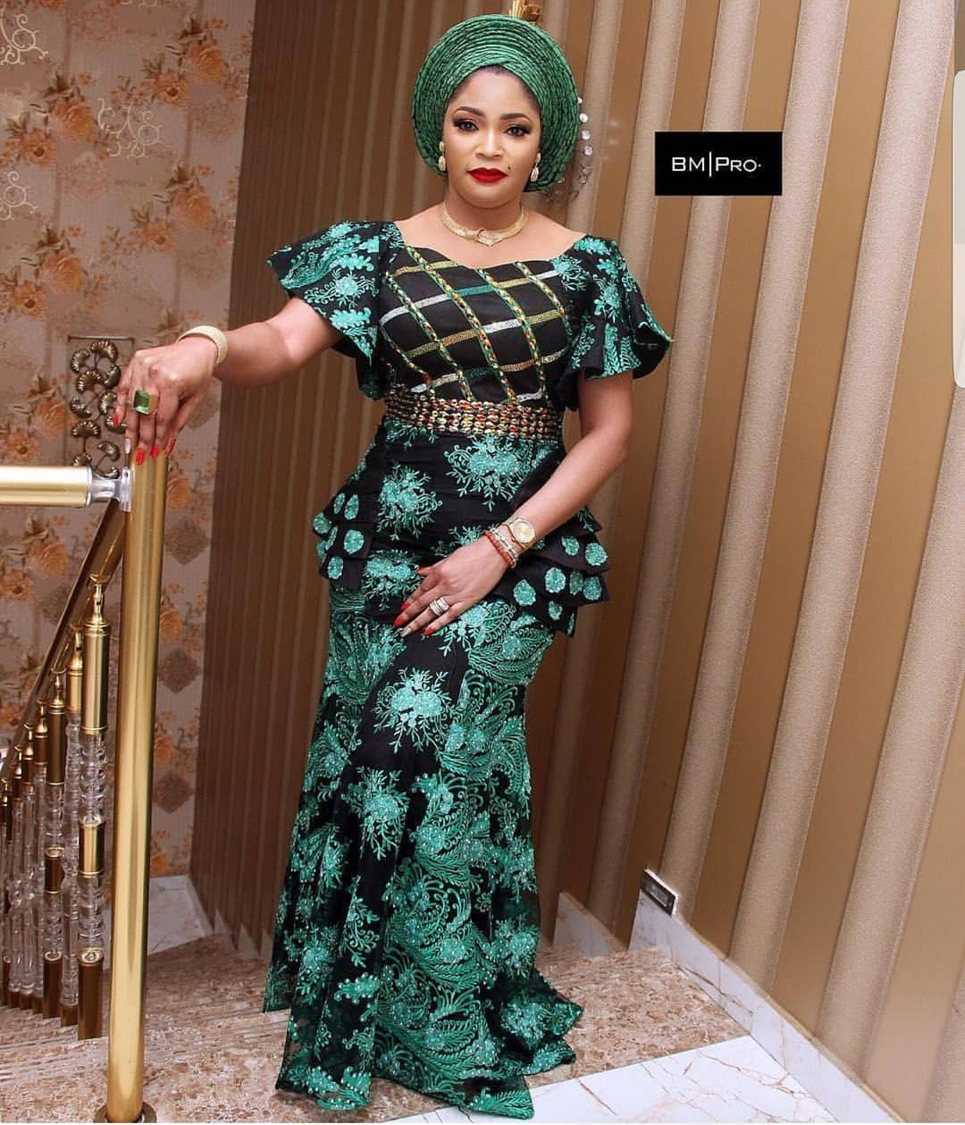 Do Your Friend Justice Rocking These Latest Lace Asoebi Attires