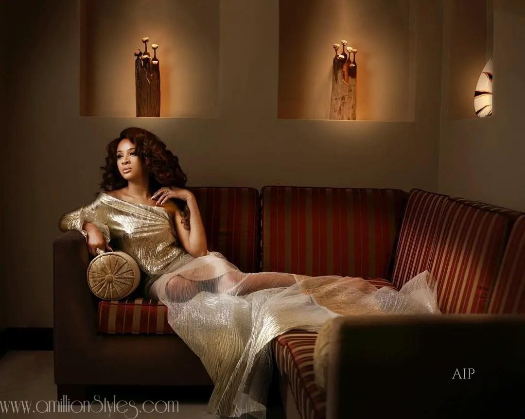 "Adesua Etomi Wellington Looks Amazing In GTBank Fashion Weekend's Magazine ""Africa's Finest"""