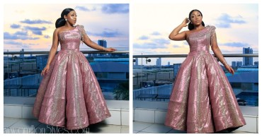 Rita Dominic Sparkles In A Ball Dress By Nigerian Label Tubo