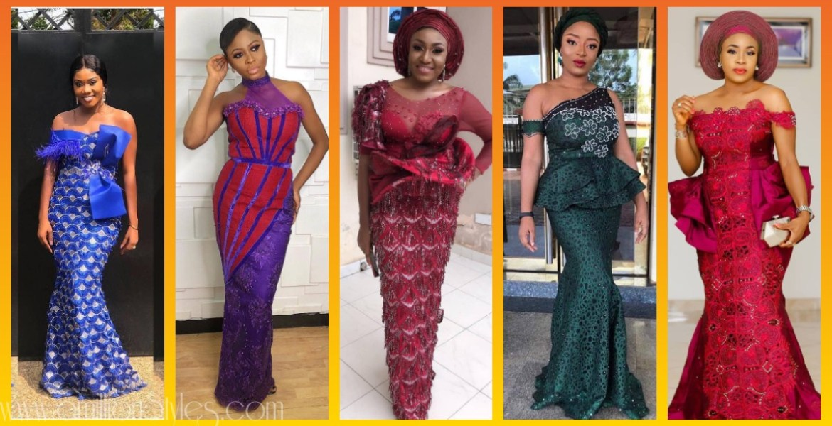 Fashionable Lace Asoebi Styles For Tuesday