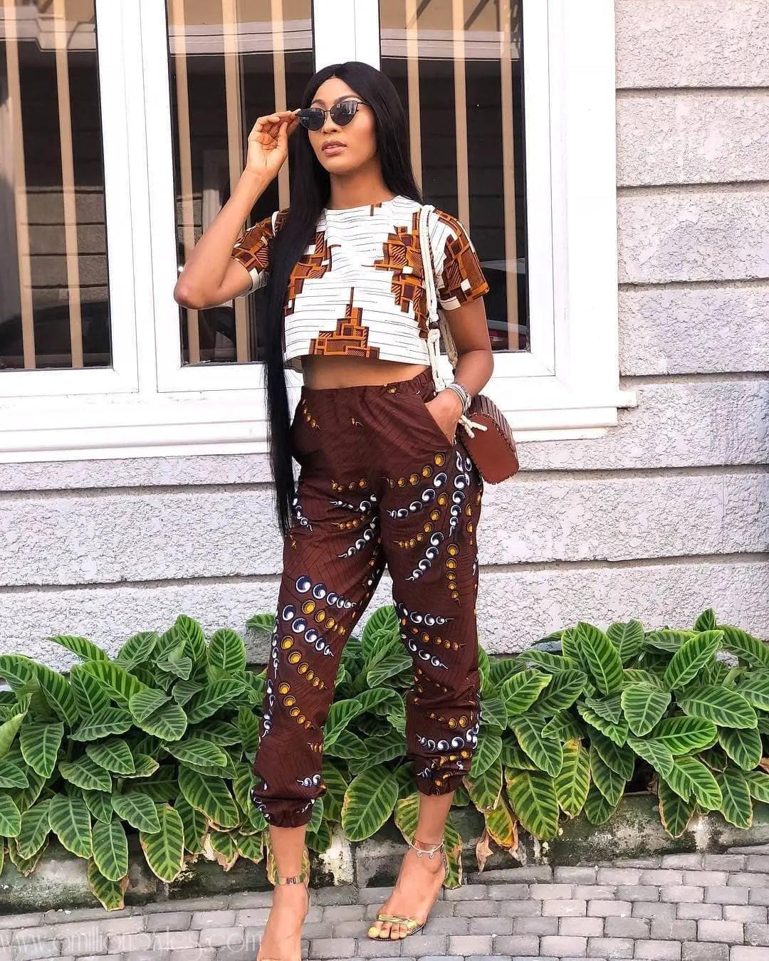 9 Classic Ankara Trousers Styles