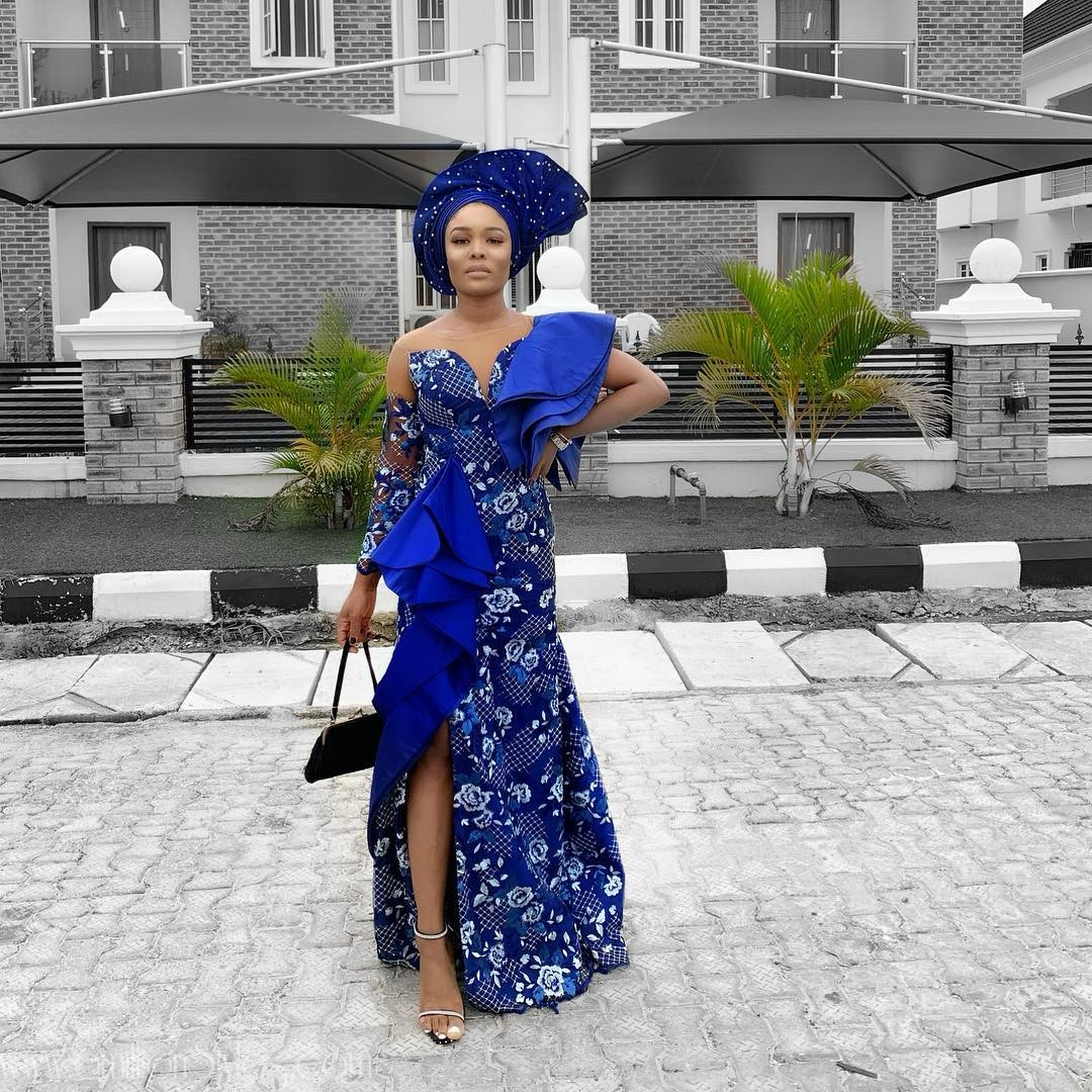 The Blue Lace Asoebi Styles At Tomike's Wedding Blu Us Away!
