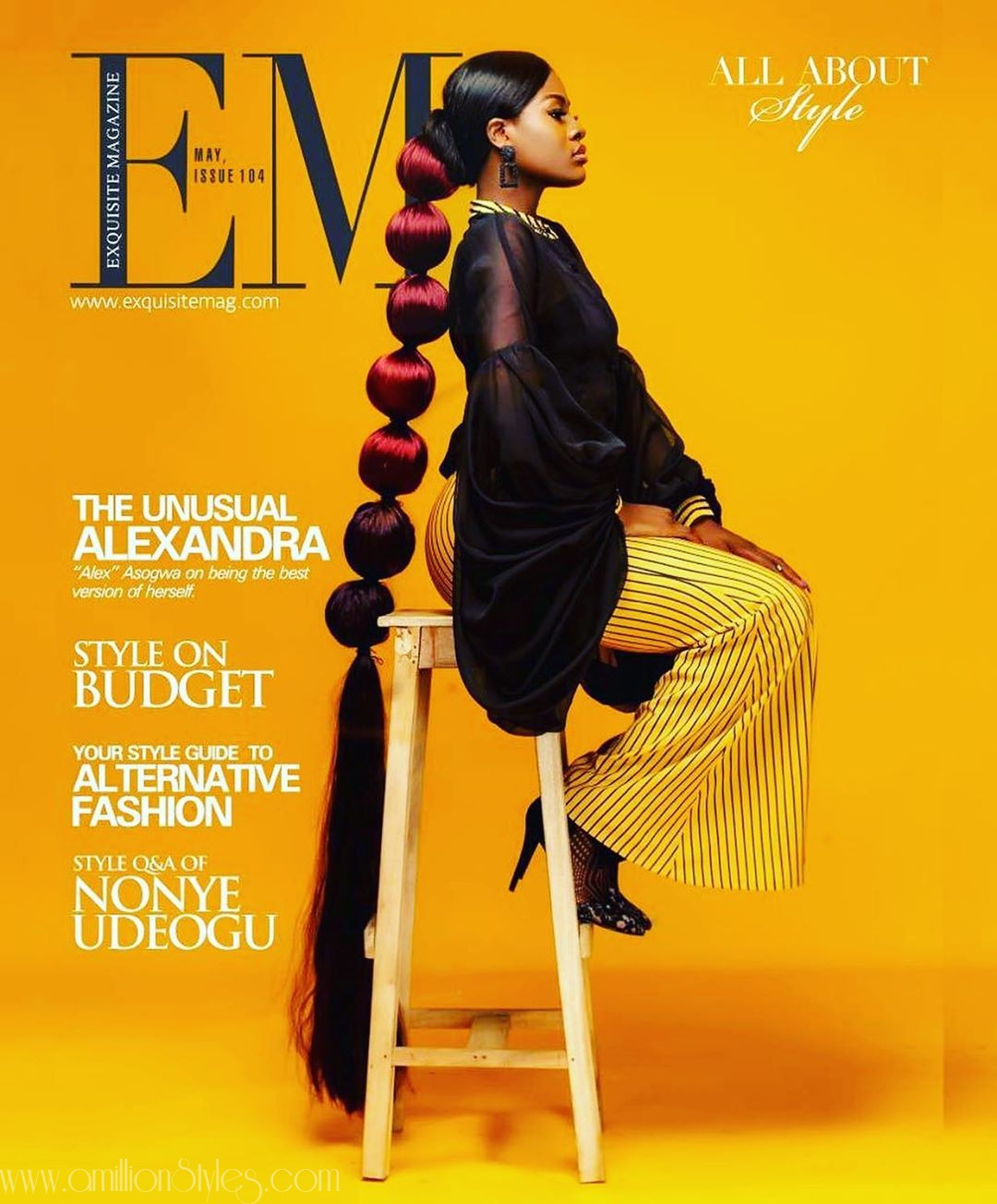Alex Of Big Brother Naija Is The Cover-girl For Exquisite Magazine
