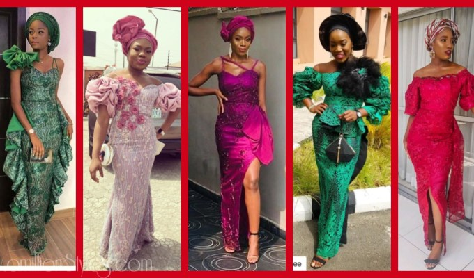 Latest Lace Asoebi Styles Volume 42