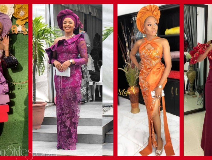 Latest Lace Asoebi Styles Volume 48