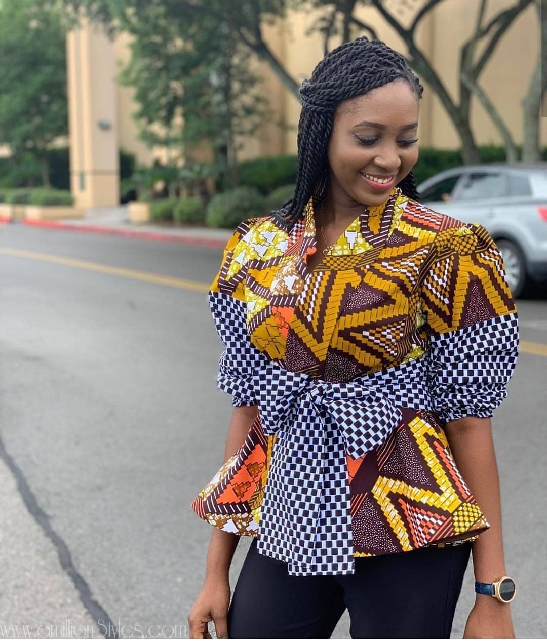 Here Are 8 Cute Ankara Blouses