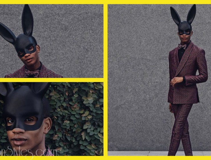 Denola Grey Snatched Our Wigs Off In This Bunny-Playboy Mask
