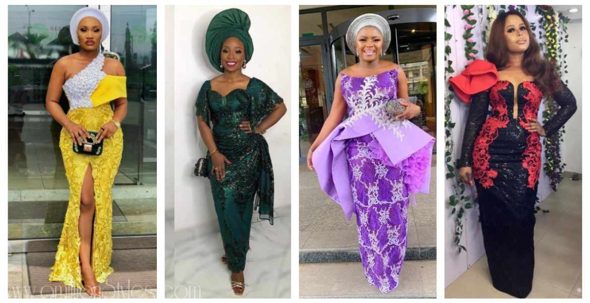 Exclusive Lace Asoebi Styles Volume 54