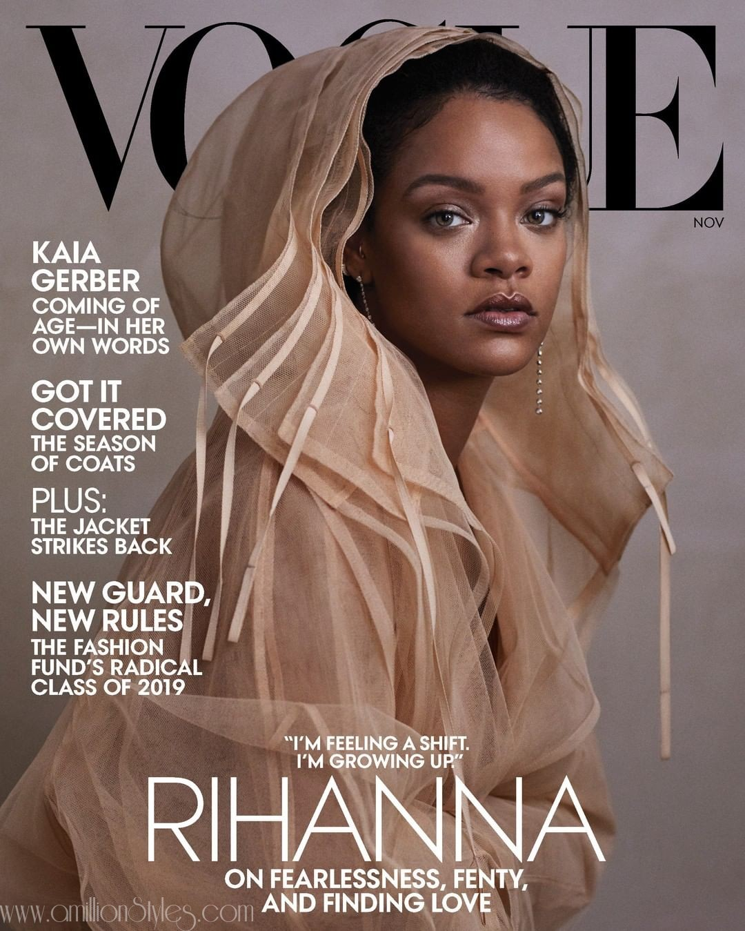 Rihanna Is The Cover Girl For The November Issue Of Vogue