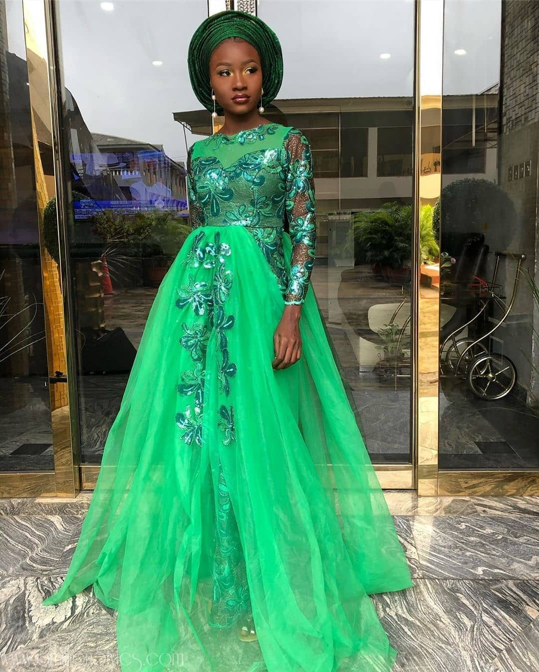 Here Are The Best Green Lace Aseobi Styles For 2019