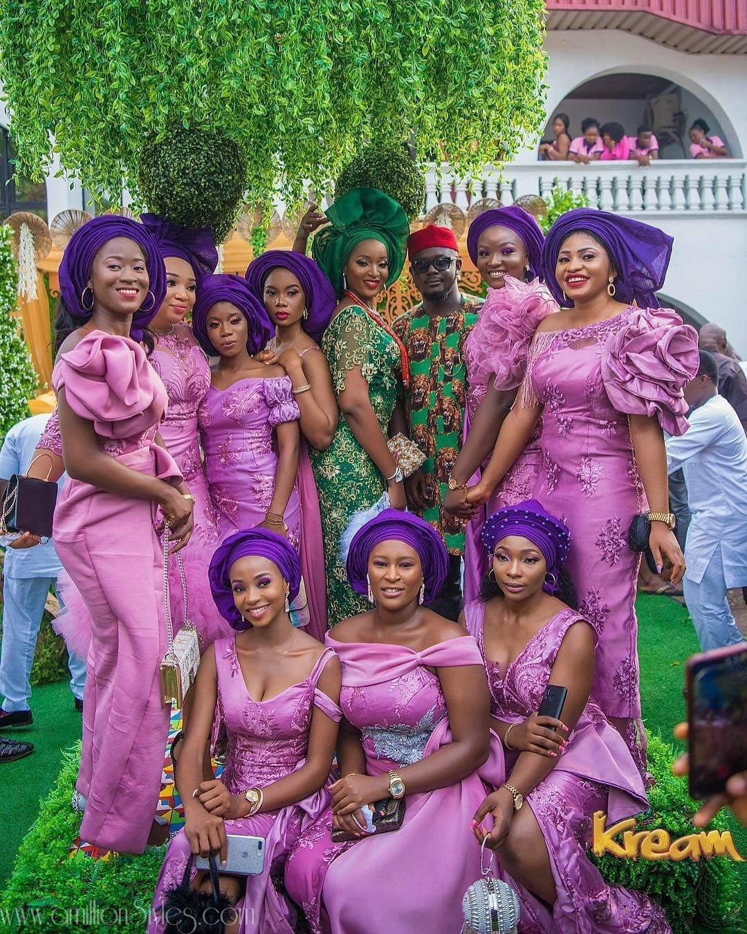 The Best Pink Lace Asoebi Styles For 2019