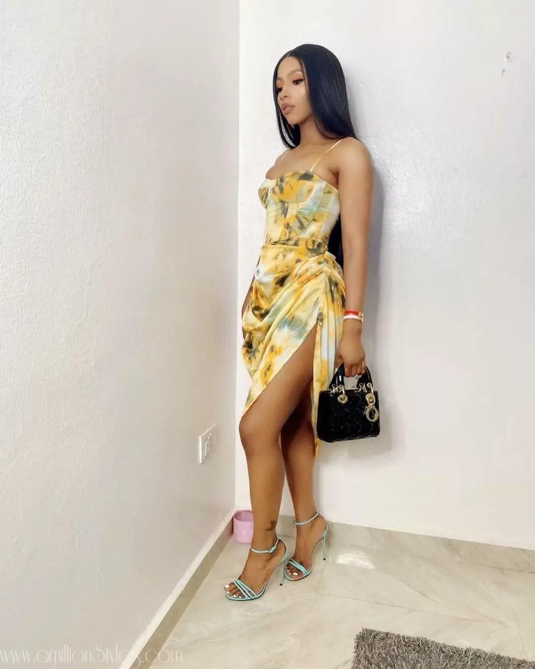 Who Wore This Wodibenuah Dress Better? Sophia Momodu Or BBNaija Mercy Eke