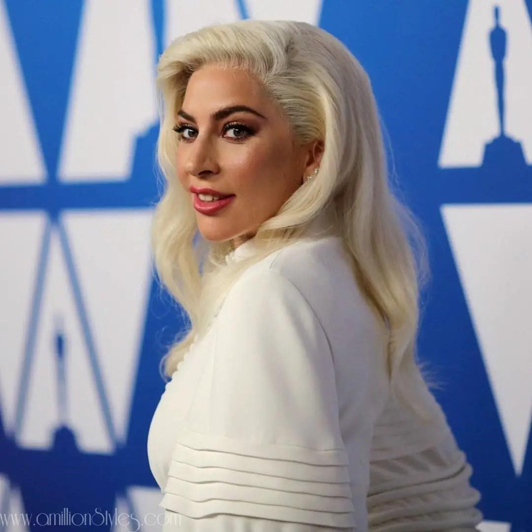 Lady Gaga Rocks White Maxi Louis Vuitton Dress