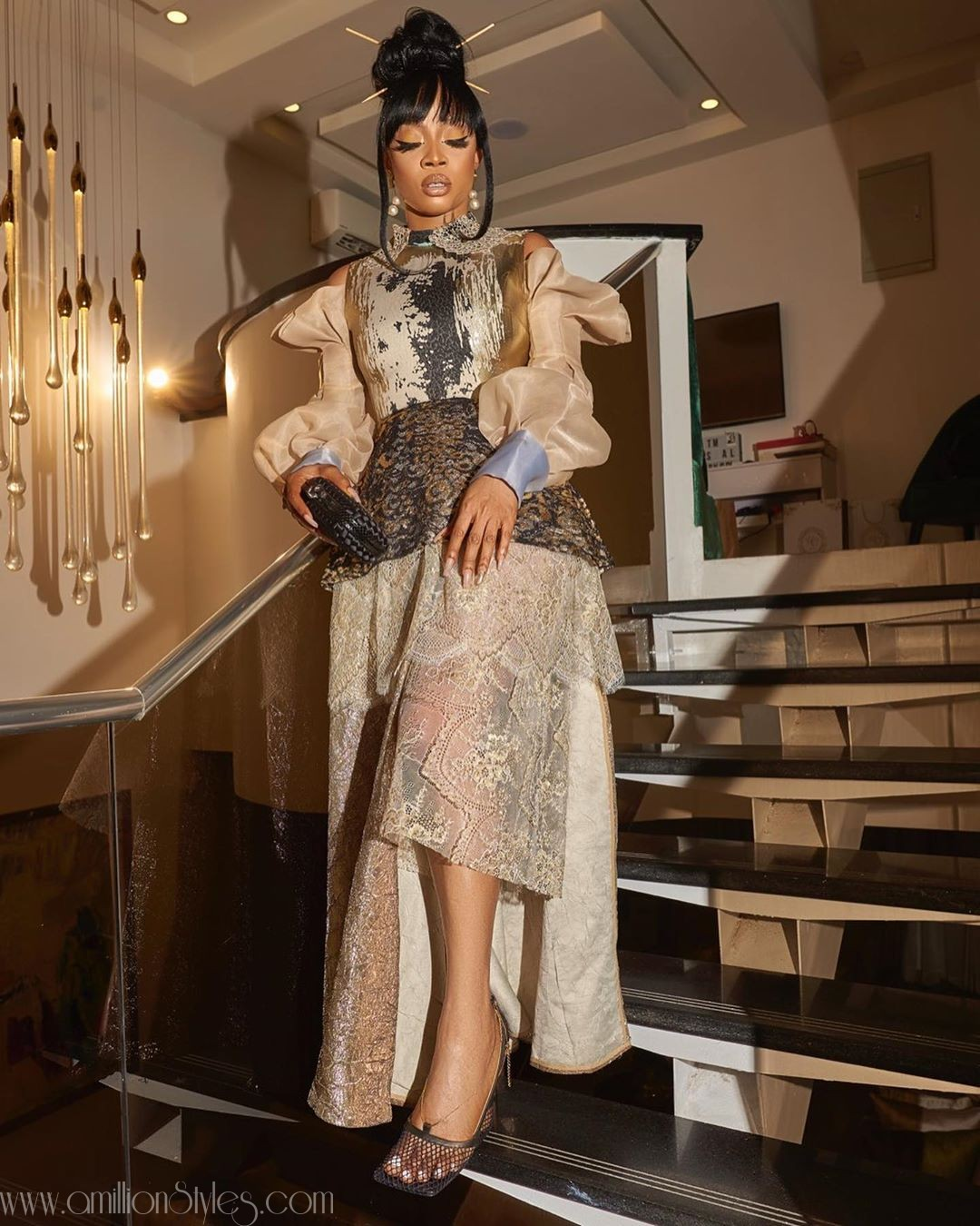 Toke Makinwa Channels Geisha Look In Lanre Da Silva Ajayi