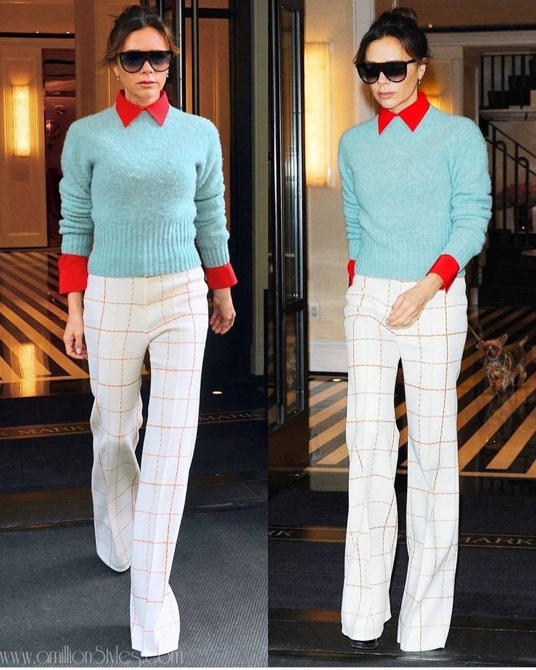 Victoria Beckham Sizzles In Stylish Work Outfits