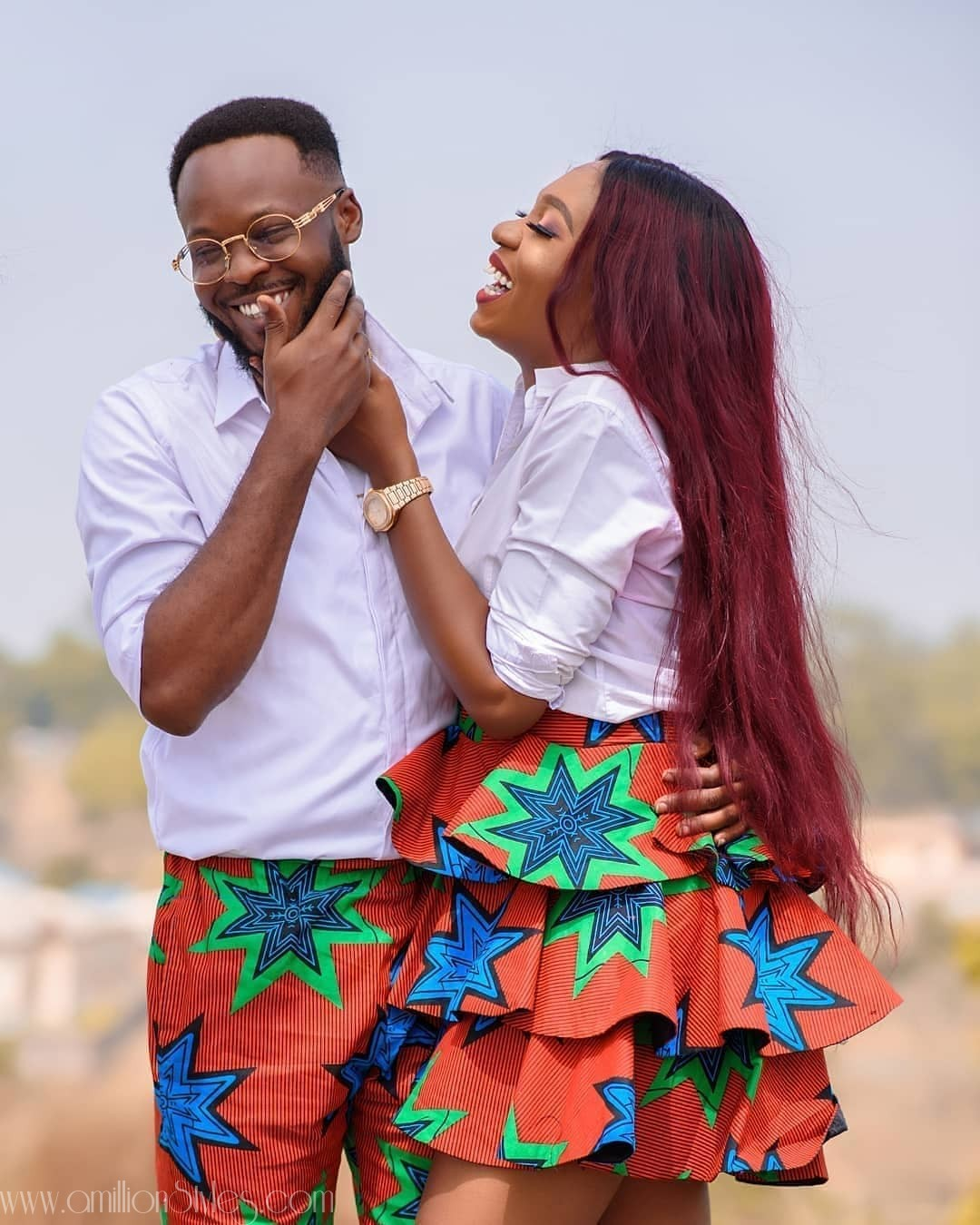 8 Times Couples Stunned Us In Matching Ankara Styles