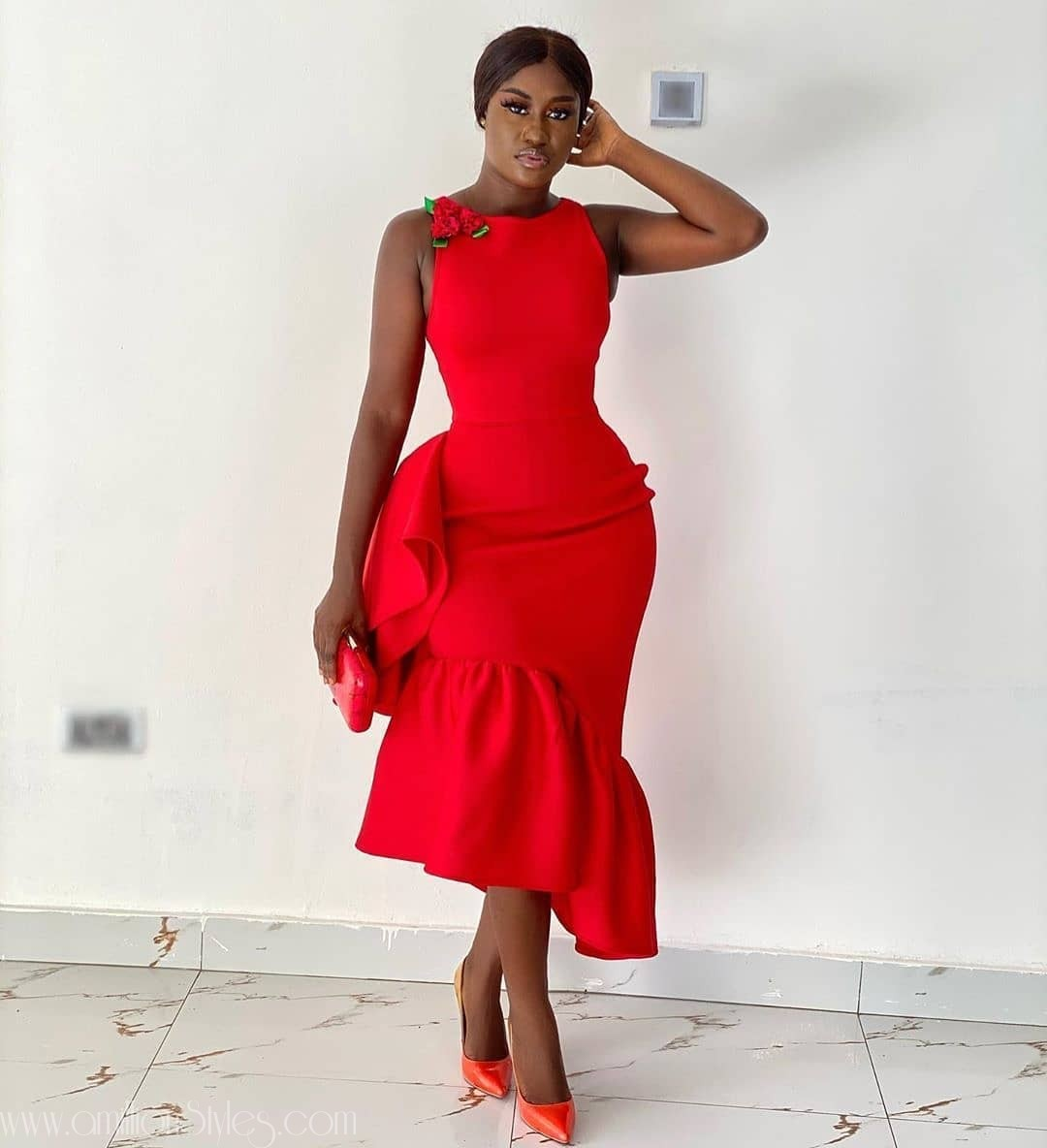 See These Black Women Look Gorgeous Wearing Red