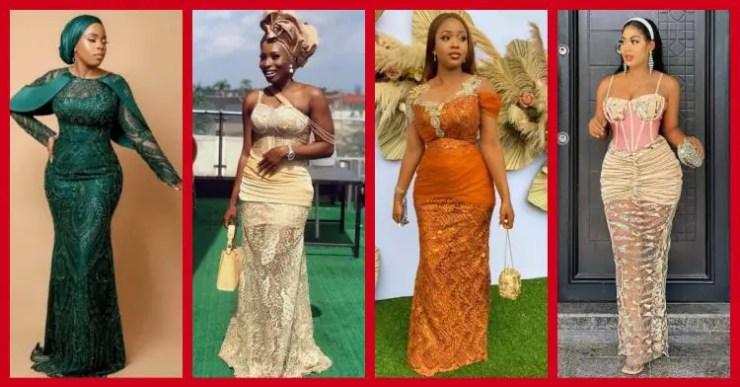 Exquisite Nigerian Lace Asoebi Styles-Volume 27