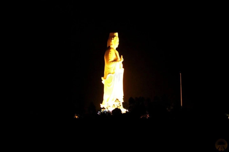 Lady Buddha at night