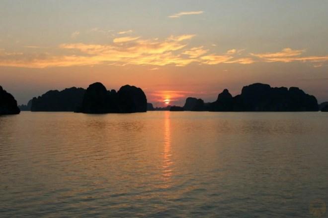 Sunset Ha Long from Hanoi