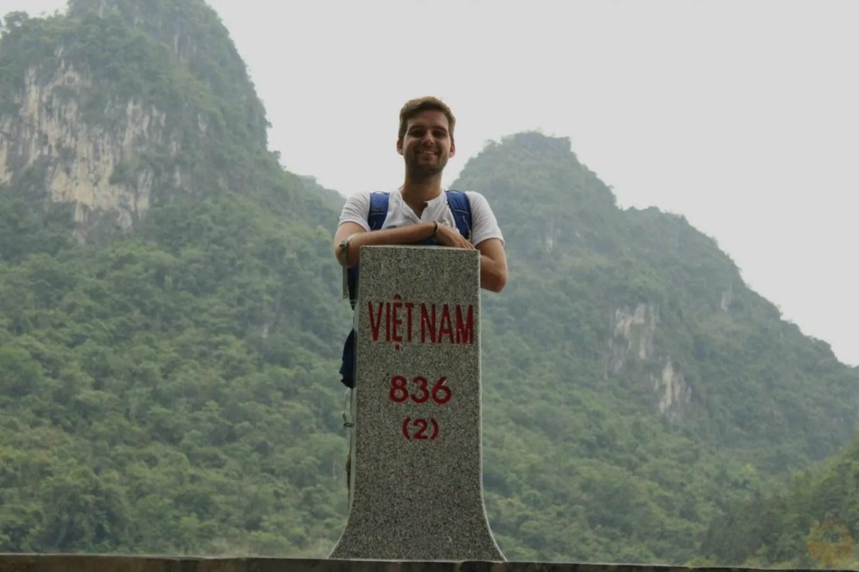 At the border with China