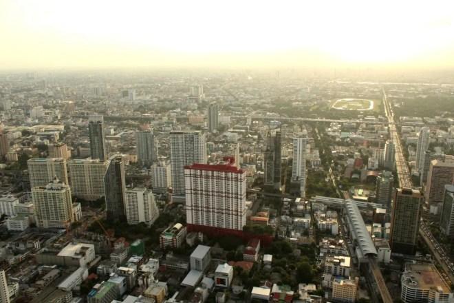 From Baiyoke Tower at sunset
