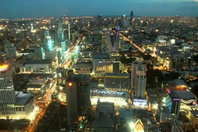 Nightlights of Bangkok from Baiyoke Tower