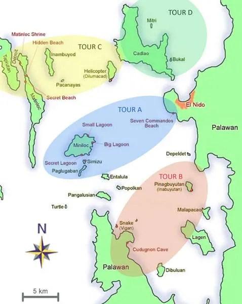 el nido island hopping tour a b c d