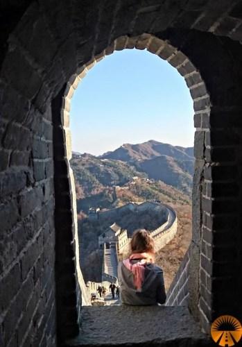 camminare sulla muraglia mutianyu
