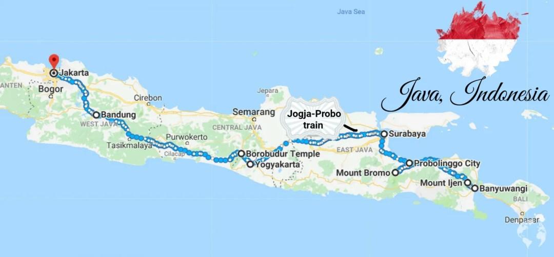 itinerario guida java indonesia