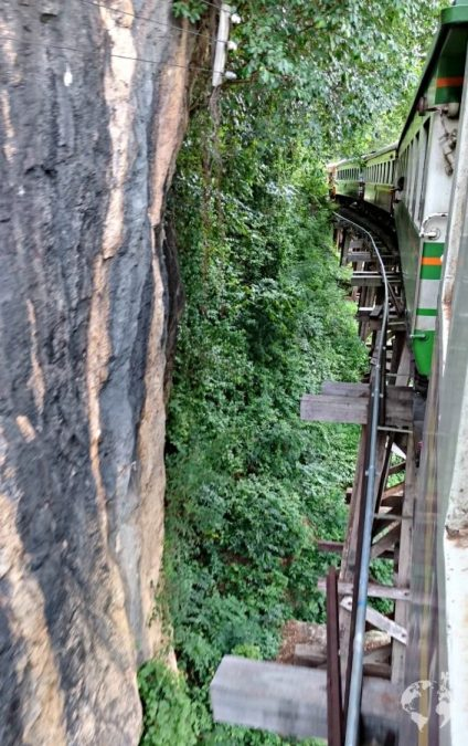 Wampo Viaduct ponte Ferrovia della Morte vista migliore posto treno