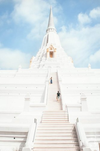 white temple Ayutthaya how to go