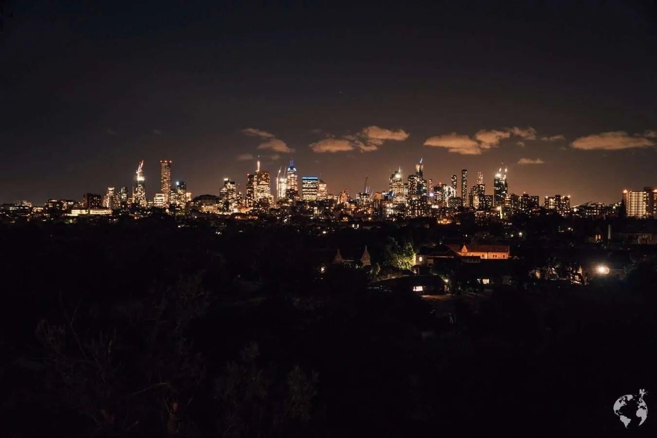Skyline Melbourne where to go by night