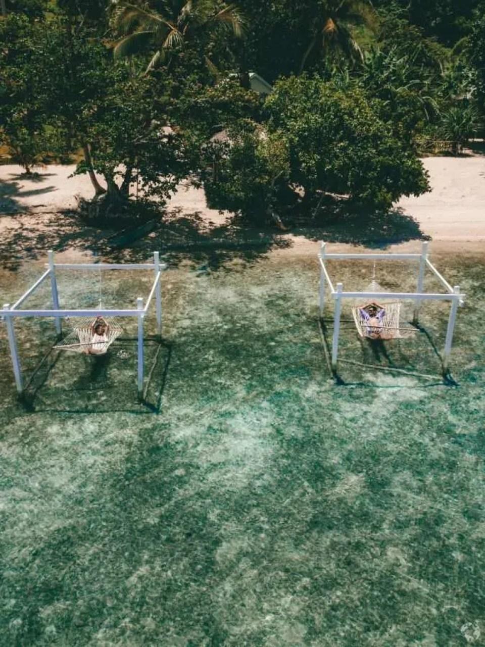 The Moso Resort hammocks