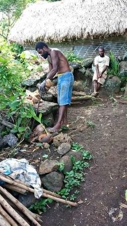 How to open a coconut Vanuatu