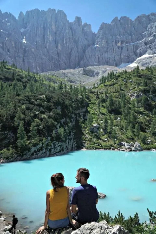 best shot lake sorapis turquoise water
